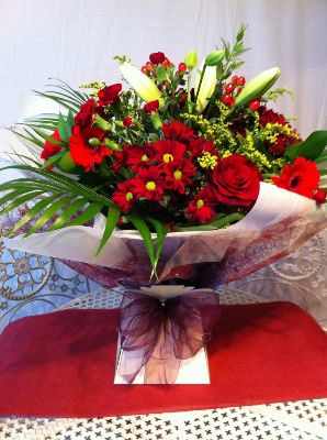 Christmas Florist Choice Aqua Bouquet
