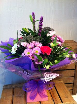 Valentines Florist Choice Aqua Bouquet