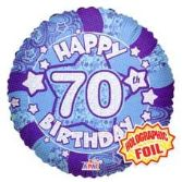 70th Birthday Blue