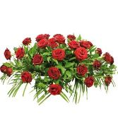 Red Rose Casket Arrangement