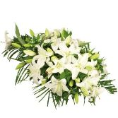 White Lily Casket Arrangement