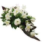 Luxury White Casket Arrangement