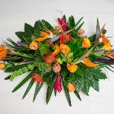 Tropical Touch Casket Arrangement